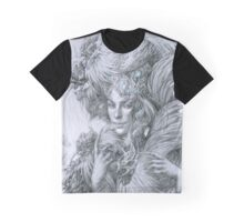 The fairy lady with fighting roosters Graphic T-Shirt
