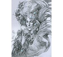 The fairy lady with fighting roosters Photographic Print