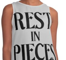 Rest in Pieces - Halloween Themed Contrast Tank