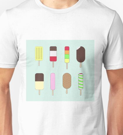 Popsicle Ice Lolly Pattern Unisex T-Shirt