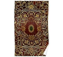 Elizabethan Style Gilded Leather Old Book Cover Poster