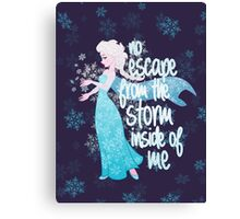 No Escape from the Storm Inside of Me Canvas Print