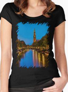 Amsterdam - Oil Paint Art Women's Fitted Scoop T-Shirt