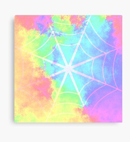 Spiderweb in pastels Canvas Print