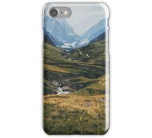 Swiss Alpine Valley Landscape iPhone Case/Skin