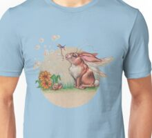 Bubble Bunny (with hummingbird assistant) Unisex T-Shirt