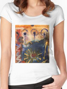 My Own Painted Desert - COMPLETED Women's Fitted Scoop T-Shirt