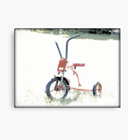 Vintage Red Tricycle | Old Bicycles | Childhood Memories Canvas Print