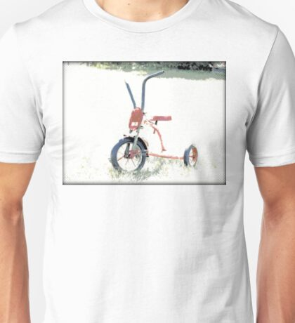 Vintage Red Tricycle | Old Bicycles | Childhood Memories Unisex T-Shirt