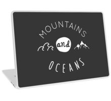 Mountains and oceans (light text) Laptop Skin