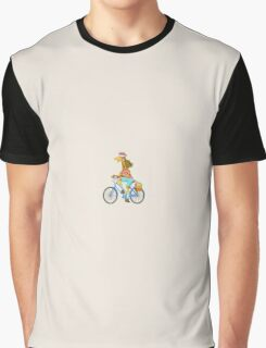 Big City Vehicles - Giraffe Riding Bicycle Graphic T-Shirt