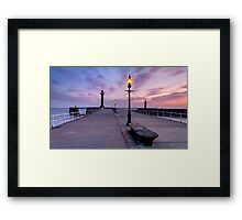 Alone on the Pier Framed Print