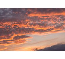 Epic Clouds at Sunset Photographic Print