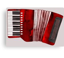 Jazzy ABC - The Accordion Canvas Print
