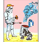 Star Wars BBQ- a piece of street art in Bristol by Dan by Tim Constable
