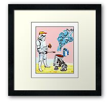 Star Wars BBQ- a piece of street art in Bristol by Dan Framed Print