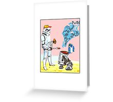 Star Wars BBQ- a piece of street art in Bristol by Dan Greeting Card