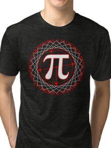 Pi  Sign Drawing White Tri-blend T-Shirt