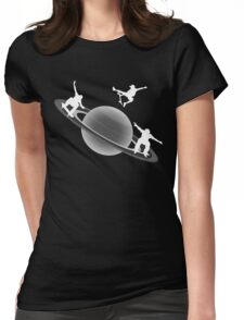 Skateboarding Saturn Womens Fitted T-Shirt