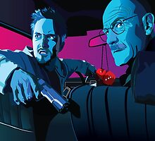 Jesse and Walter by batcatgraphics