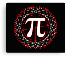 Pi  Sign Drawing White Canvas Print