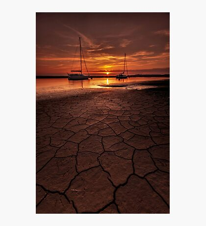 Cracked Mud Photographic Print
