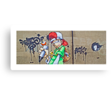 The scribbler by Cheo Canvas Print