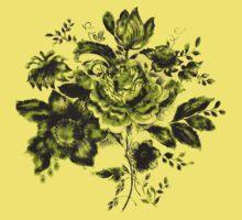 Green Flowers Kids Tee
