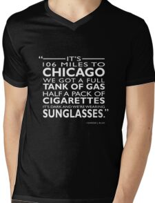 Its 106 Miles To Chicago Mens V-Neck T-Shirt