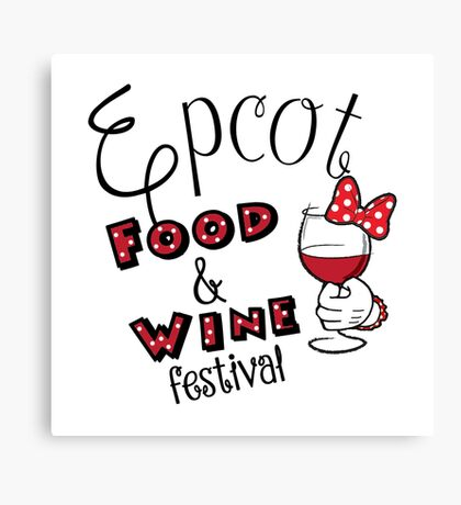 Epcot Food and Wine Festival Minnie Mouse Canvas Print