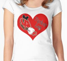 Turkey Leg Love Women's Fitted Scoop T-Shirt