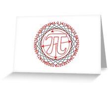 Pi  Sign Drawing Greeting Card