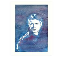 Dean Winchester Jensen Ackles Supernatural Galaxy Art Print