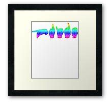 American Sign Language - Pride Framed Print