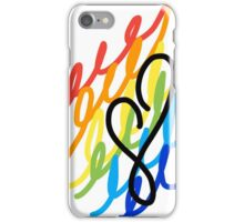 Rainbow Doodles with Heart iPhone Case/Skin