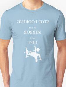Mirror Chest Press - White T-Shirt