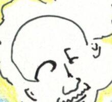Old Man Superhero Popcorn Scientist Sticker