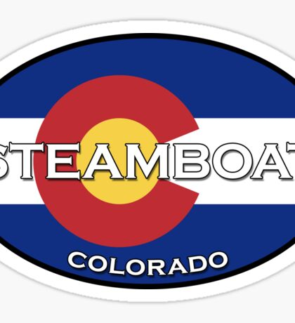 Steamboat Springs Colorado!  State flag design Sticker