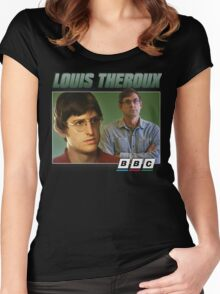 Louis Theroux 90s Green Women's Fitted Scoop T-Shirt