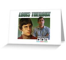Louis Theroux 90s Green Greeting Card