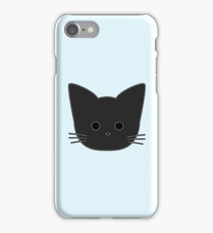 Theo Cat Head - Blue iPhone Case/Skin