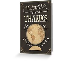 A World of Thanks Greeting Card