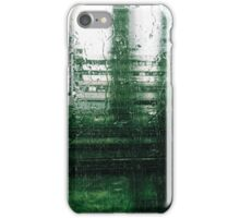 Heavy Rain and Rain Drops Through Train Window iPhone Case/Skin