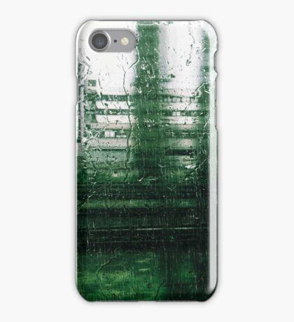 Heavy Rain and Rain Drops Through Train Window iPhone Case/Skin