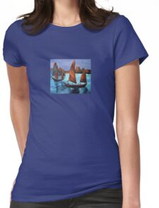 Junks In the Descending Dragon Bay Womens Fitted T-Shirt