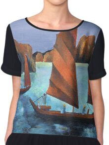 Junks In the Descending Dragon Bay Chiffon Top
