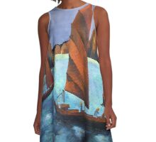 Junks In the Descending Dragon Bay A-Line Dress
