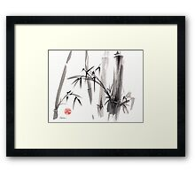 'after the rain' Original ink wash painting Framed Print