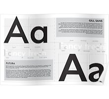Futura x Gill Sans Poster