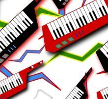 Radical Keytar Pattern Sticker